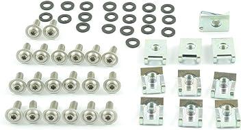 5x16mm 60 Teile Klemmen Clips M5 Schrauben Tech-Parts-Koeln Motorrad Verkleidungsschrauben