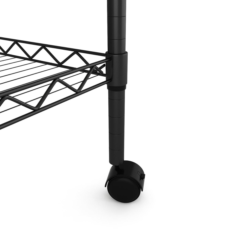 bathwa carrello per microonde con 2 ripiani e 4 ruote carrello da cucina con 4 ruote