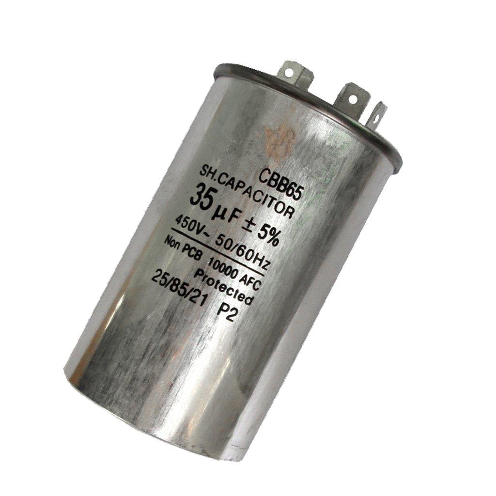 D DOLITY Condensador de Funcionamiento Motor de Condensador CBB65 450V 35UF de Funcionamiento de Motor: Amazon.es: Bricolaje y herramientas