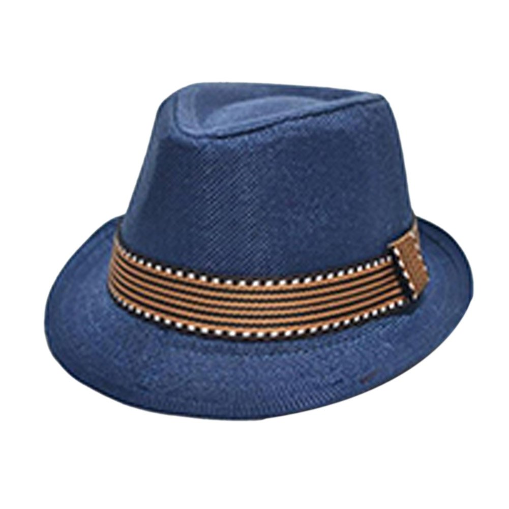 7804e2aa Amazon.com: Xinhuaya Chic Jazz Toddler Kids Baby Boy Girl Cap Cool  Photography Fedora Hat H3: Clothing