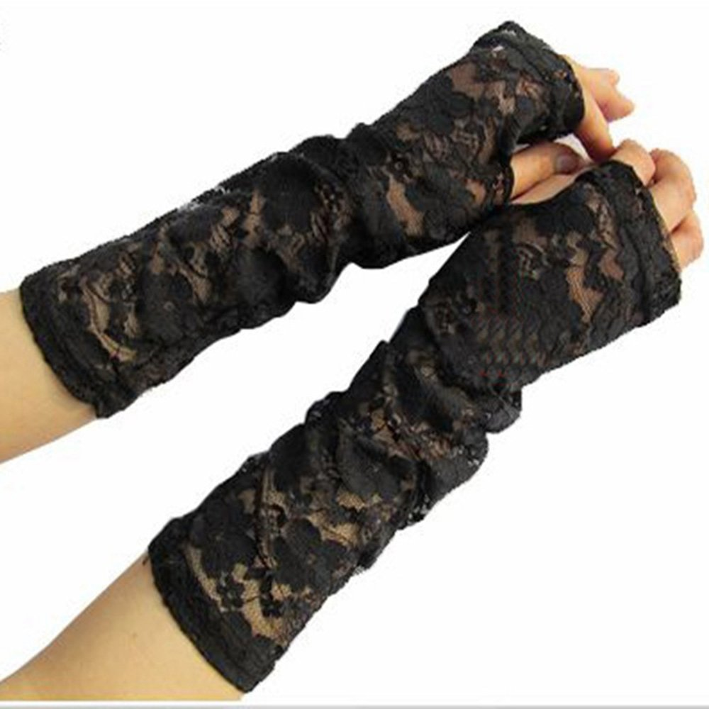 Comfspo Sexy Lace Uv Protection Sun Block Dressing Driving Wedding Bridal Gloves Sleeves