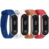 Moretek pour Xiaomi Mi Band 3 Bandes de Rechange, Silicone Remplacement Bracelet pour Mi Band 3 Fitness Tracker d'Activité Montre Accessoire