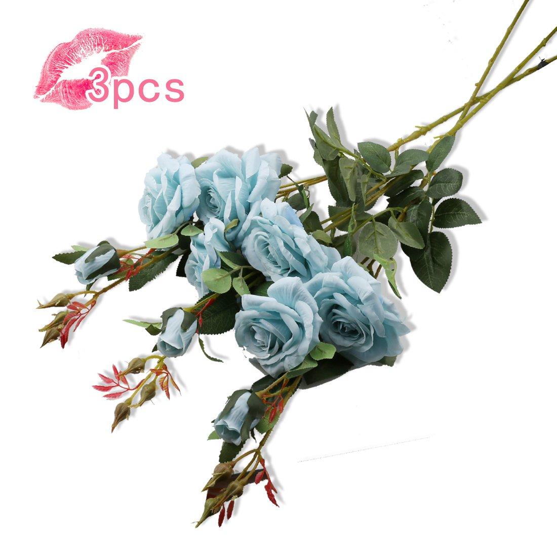 A-szcxtop Künstliche Blumen, Seide, Faux Floral Rose 1 Stiel ...