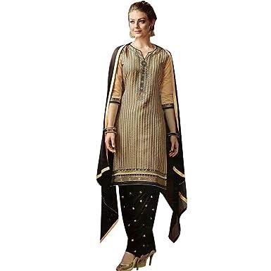 Ladyline Designer Readymade Brocade Silk Patiala Salwar Kameez Suit