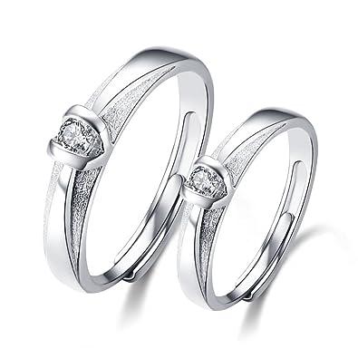 Ley Minalo de compromiso anillos de boda anillos ajustables en ...