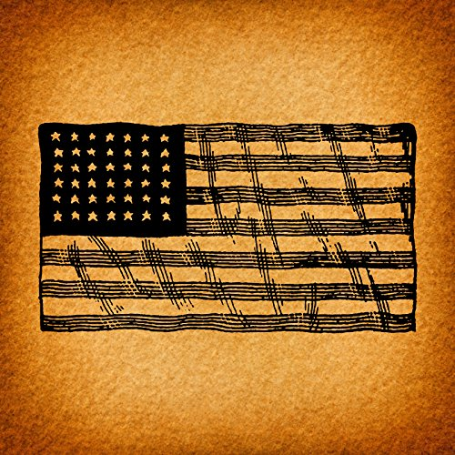 17699ea8f823 Vintage American Flag Wall Art Country Americana Home Decoration Antique  America USA Flag Print or Poster with a Vintage Rustic Orange Paper Style -  Office