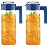 Takeya Airtight Drink Maker Pitcher / Jug, Set of Two (Blue)