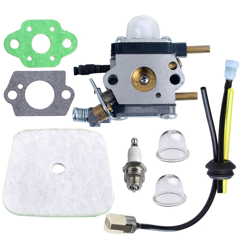 Rototiller Replacement Parts : Hipa c u k a carburetor with air filter repower kit for