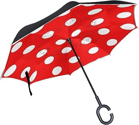 LUPINZ - Paraguas invertido Plegable de Doble Capa, Impermeable ...