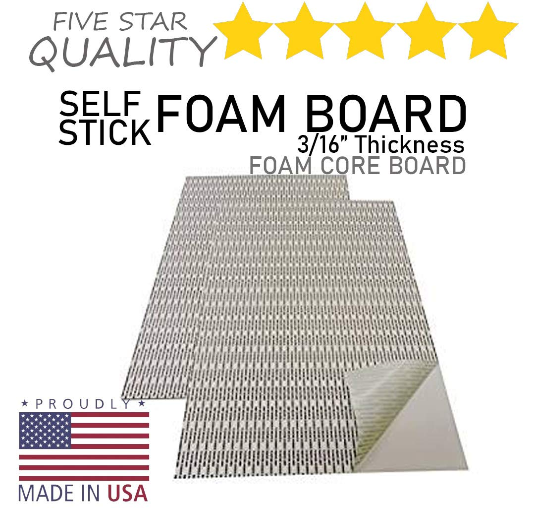 Party On Wayne Foam Board White Surface with White Core,11x17 10 Boards//Carton