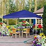 Cheap FurniTure Canopy Outdoor Canopy Tent 10′ x 10′ Easy Set Up with Hand Bag Pop Up Canopy Tent Commercial Party Folding Canopy, Blue