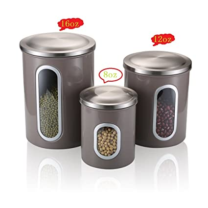 Ordinaire Food Storage Canisters Sets With Airtight Lid Leak Proof   SVVSS  Moistureproof Anti Fingerprint Stainless