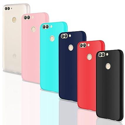 Leathlux 6X Funda Huawei P Smart, Carcasas 6 Juntas Ultra Fina Silicona TPU Gel Protector Flexible Colores Case Cover para Huawei P Smart/Huawei Enjoy ...