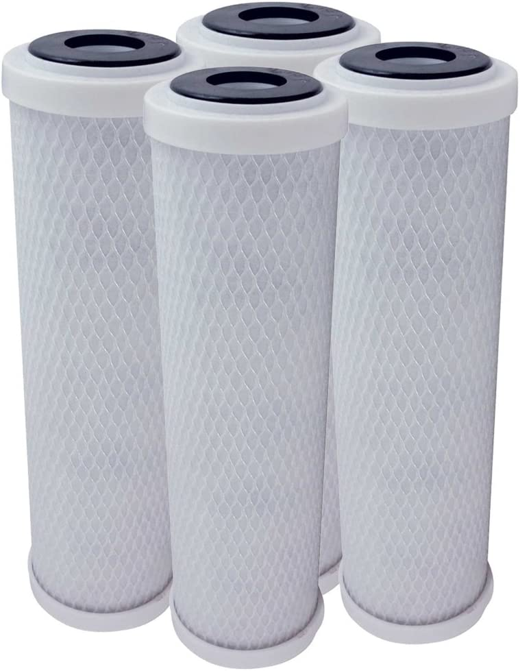 4 Pack Flow-Pur 8 Carbon Block Filter Compatible Cartridge WCBCS-975-RV by American Water Solutions