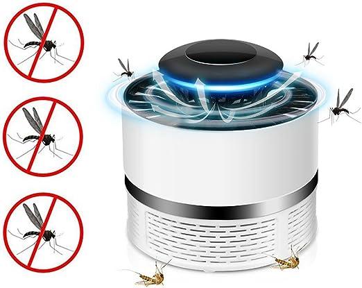 Atrapa Mosquitos Jardin Lampara Fly Bug Zapper led, Mata Mosquitos Eléctrico Interior Mata Insectos con Luz Ultravioleta USB, Sin Productos Químicos (Blanco): Amazon.es: Jardín