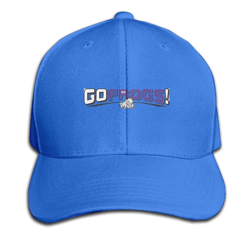 SHKUK Tcu Horned Frogs-misc Unisex Pure 100% Cotton Adjustable Peaked Cap Fashion Sports Washed Baseball Hunting Cap Trucker Hats RoyalBlue