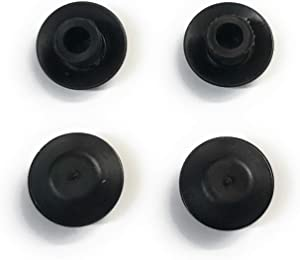 "AMZ Clips and Fasteners 100 1/4"" Black Plastic Flush Type Hole Plugs 1/2"" Head"