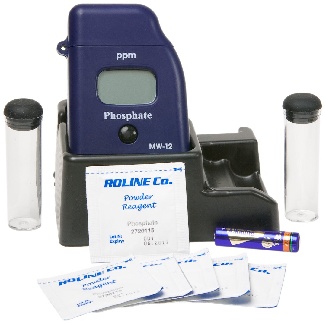Milwaukee MW12 Phosphate Low Range Mini-Colorimeter, 0.00 - 2.50 ppm, 0.01 ppm Resolution, LCD Display