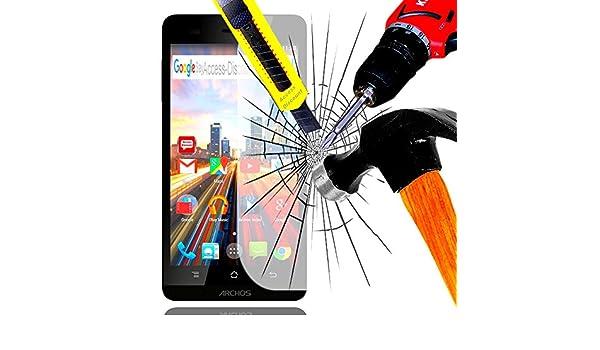 Pack a & D® Protector de pantalla Vidrio Templado para Archos 45b Helium 4 G filtro protector de pantalla invisible & inrayable cristal irrompible para Smartphone ...