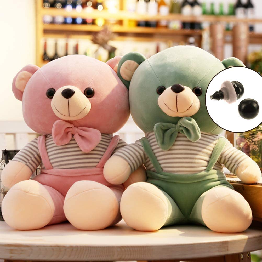 180Pcs Plastic Safety Eyes For Bear Doll Puppet Plush Animal Toy 6-12mm Black