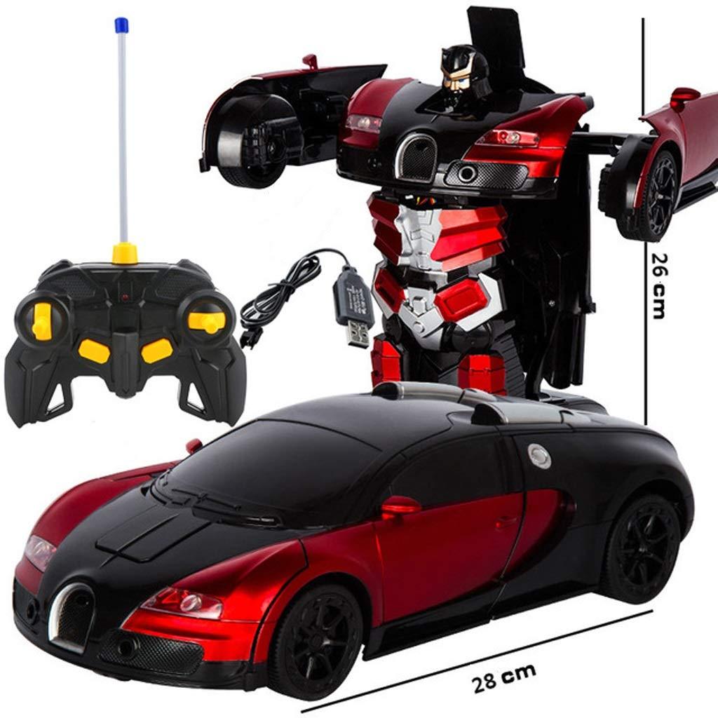 Deep rouge  ZEQUAN Bumblebee poupée Jouet déformation Robot poupée Animation Artisanat OrneHommests (Couleur   Deep rouge)
