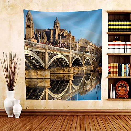 Gzhihine Custom tapestry View of City of Salamanca Spain - Fabric Tapestry Home Decor - Outlets Phila