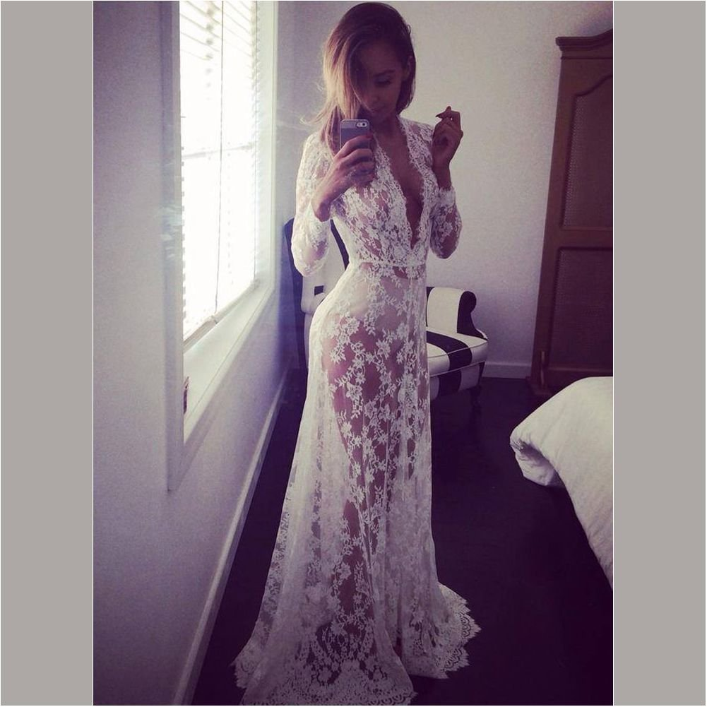 REFURBISHHOUSE Accesorios de fotografia de maternidad Vestido de maternidad Maxi Vestidos de encaje con cuello en V Vestido de embarazo Ropa embarazada lujosa de Fotografiando Blanco, M