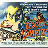 Rikki Knight RK-8intilec-3702 8'' X 8'' Vintage Movie Posters Art Blood of Vampire 2 Design Ceramic Art Tile