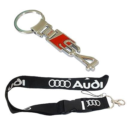 Amazoncom New Pcs Audi Keychain Lanyard Badge Holder Audi S S - Audi keychain