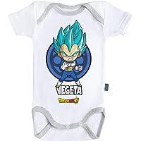 Baby Geek Vegeta Dragon Ball Super - Body de manga corta para bebé con licencia oficial