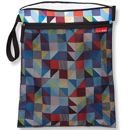 Skip Hop Grab-and-Go Wet-Dry Bag, Prism, Multi