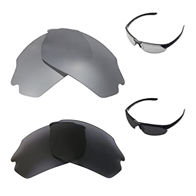 8d11e1248d6 Image Unavailable. Image not available for. Color  Walleva Polarized  Titanium + Black Replacement Lenses For Smith Parallel Max Sunglasses
