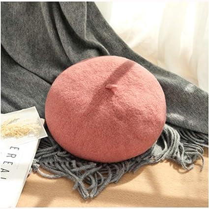 XIAOLULU Otoño e Invierno de Las Mujeres. Sombrero de Lana Salvaje Boina  Sombrero de Calabaza 55ead579129