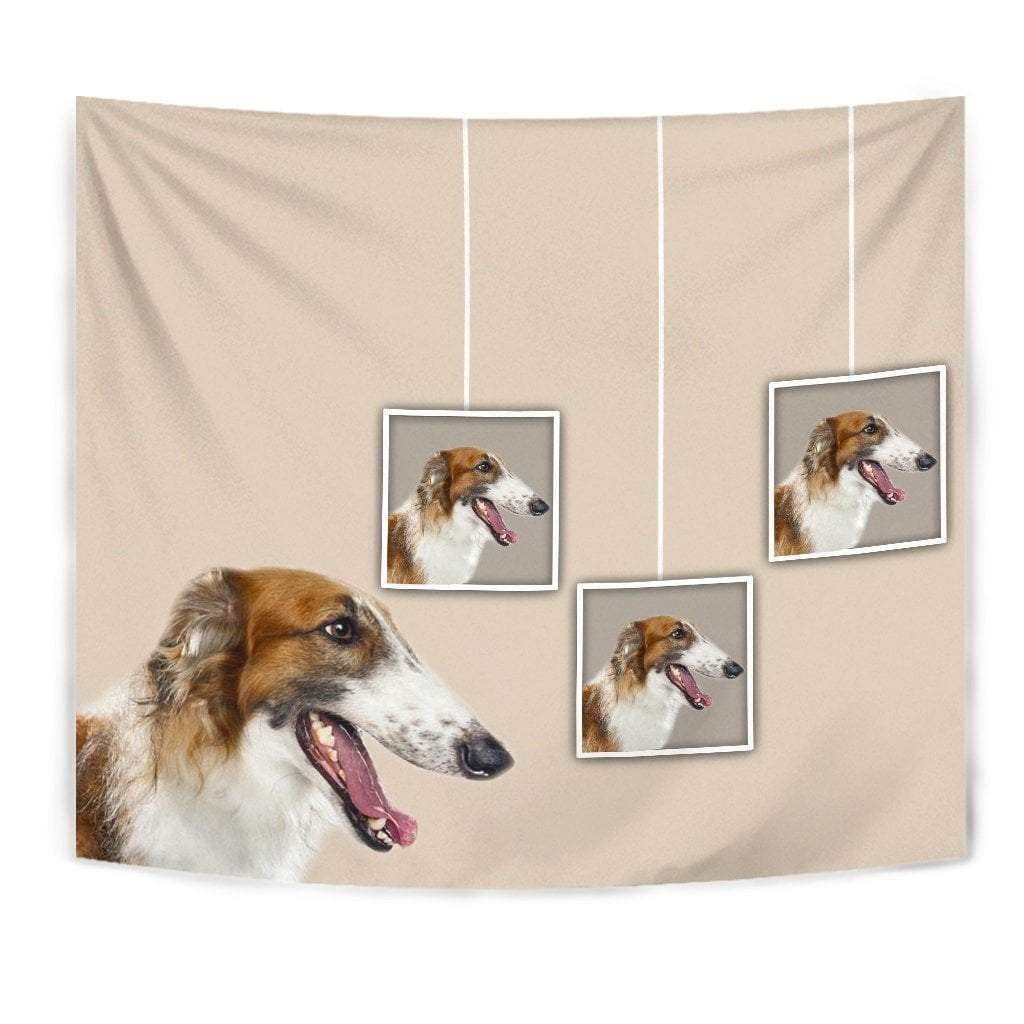 Borzoi Dog Print Tapestry by Paws With Attitude
