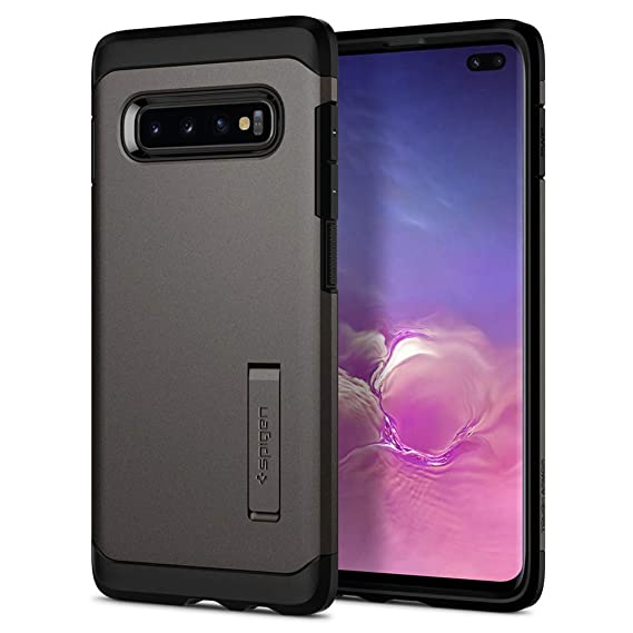 brand new 1a0fe aa198 Spigen Tough Armor Designed for Samsung Galaxy S10 Plus Case (2019) -  Gunmetal