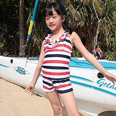 Enfants Enfants Maillot Maillot 1 _Split minceur sécurité maillot de l'enfant filles.