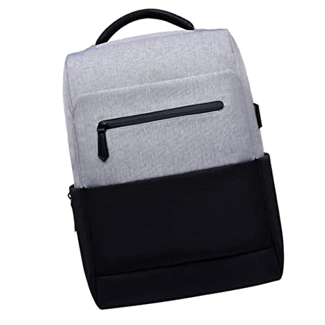 Sharplace Mochilas Impermeables Bolsos Recargables USB Accesorio Ordenador Portátil Cámara Fotografía Negro+Blanco
