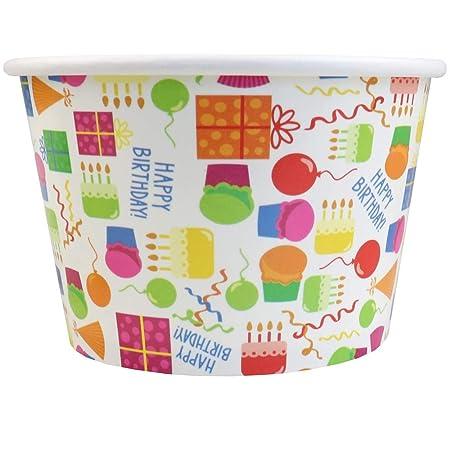 Vasos de papel para fiesta de cumpleaños, diseño de tarta de ...