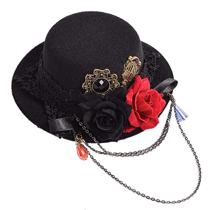GRACEART Gótico Mini Parte Superior Sombrero Cabello Acortar  Amazon.es   Ropa y accesorios eb2de80e4c0