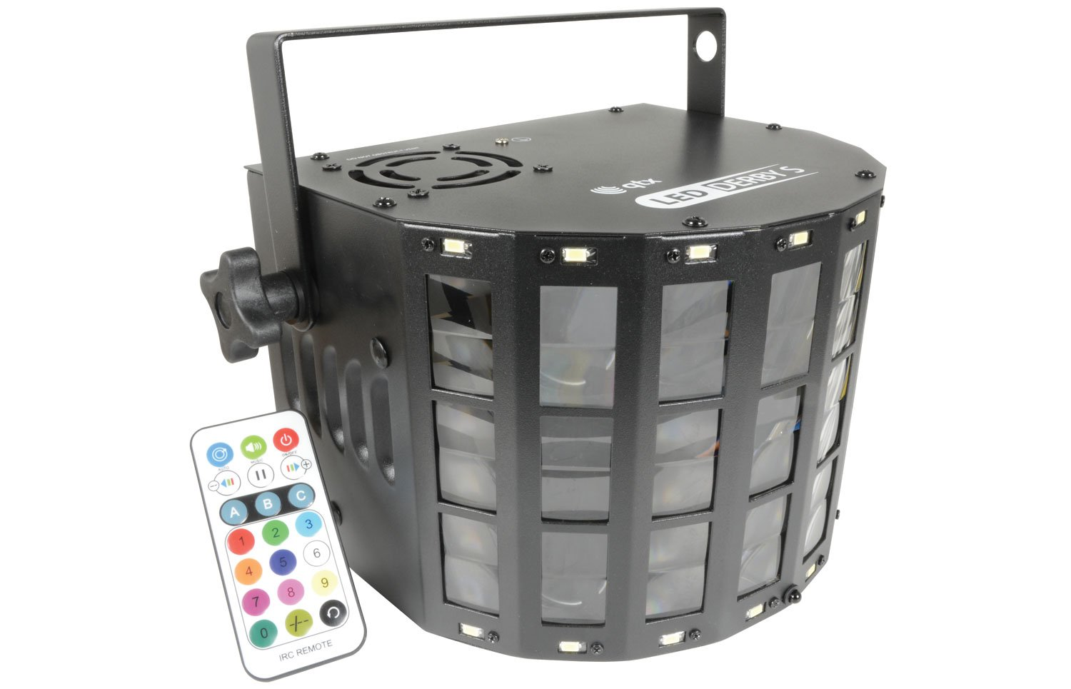 DERBY S LED Effect Light qtx 151.601UK qtx LED DERBY S - for dynamic movement and full strobe effects