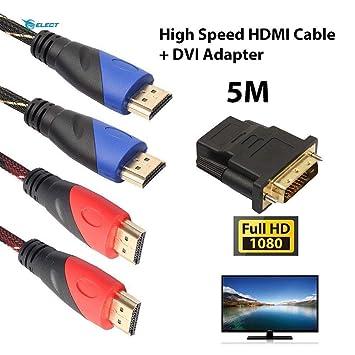 HJINGUS - Adaptador de Cable HDMI DVI Chapado en Alta Velocidad ...