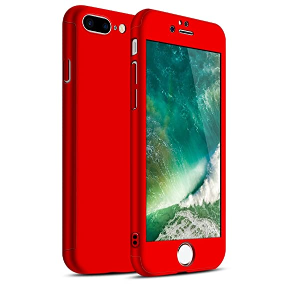 iPhone 7 Plus Case, Ultra-thin Hard Hybrid PC 360 All Round Body Coverage