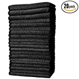 (20-Pack) 10 in. x 10 in. All-Purpose Microfiber HIGHLY ABSORBENT, LINT-FREE, STREAK-FREE Cleaning Towels - THE RAG COMPANY (Black)