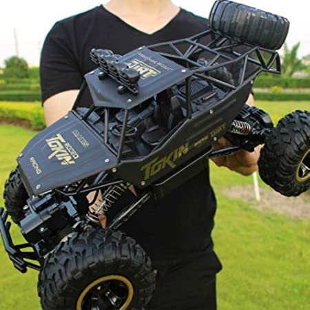 YXWJ 1:12 4WD RC Cars 2.4G Radio Control Toys Buggy Camiones de Alta Velocidad Off-Road para niños Coche Rock Crawlers 4x4 Driving Double Motors Drive Bigfoot Modelo Remoto Vehículo de Juguete: Amazon.es: