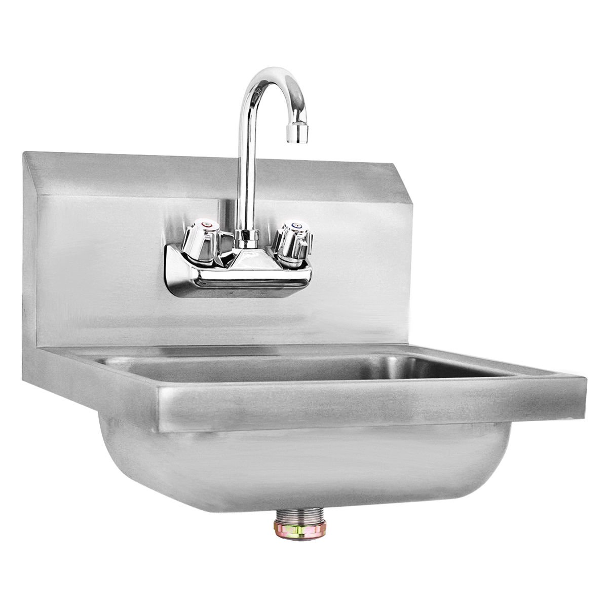 Giantex Stainless Steel Hand Wash Sink Wall Mount Commercial Kitchen Heavy Duty With Faucet by Giantex (Image #1)
