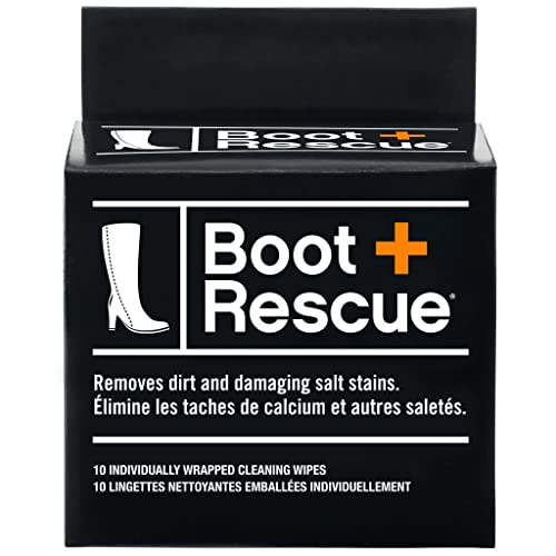 ea86165f664 BootRescue All Natural Cleaning Wipes for Leather & Suede Shoes & Boots for  Dirt, Salt Stains