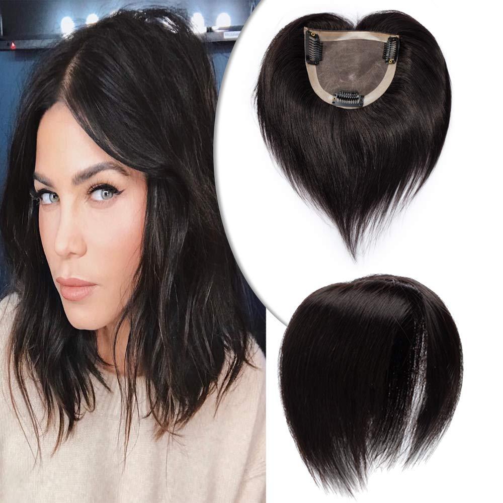 6 Inch Mono Base Human Hair Topper for Women