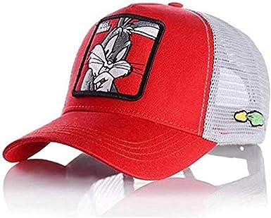 Gorra Visera Curva Trucker Looney Tunes Bugs Bunny roja y Blanca ...