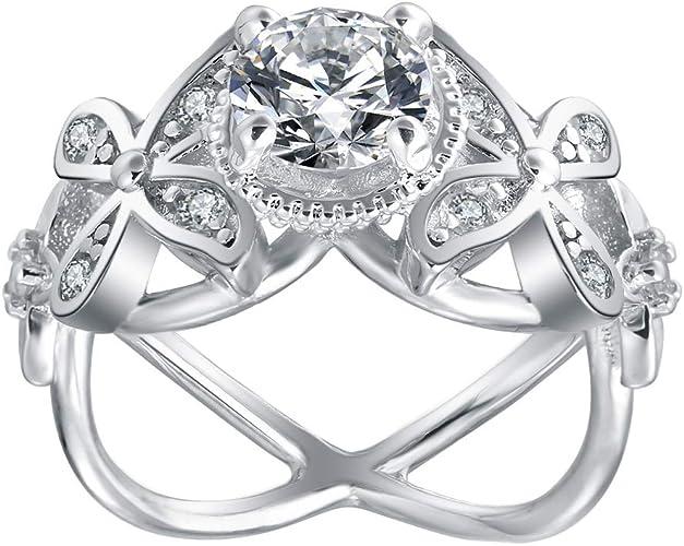 Ginger Lyne Collection Exquisite Black Bridal Engagement Wedding Band Ring Set