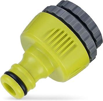 Verve - Conector para grifo 3 en 1, descripción, color verde y gris, material: plástico, ancho 34 mm, longitud 51 mm: Amazon.es: Bricolaje y herramientas